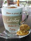 Good morning sweet sister! Have a great Saturday!! Thinking of you ... #sweetMorningCoffeeQuote