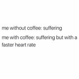 Me Without Coffee: Suffering Me With Coffee: Suffering But With A ... #meWithoutCoffeeQuote