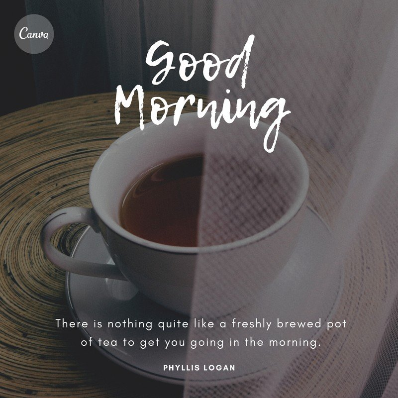 Breakfast Coffee On Table Good Morning Quotes Templates By Canva Sweetmorningcoffeequote Coffee Meme Quote Pinkmoon Coffee