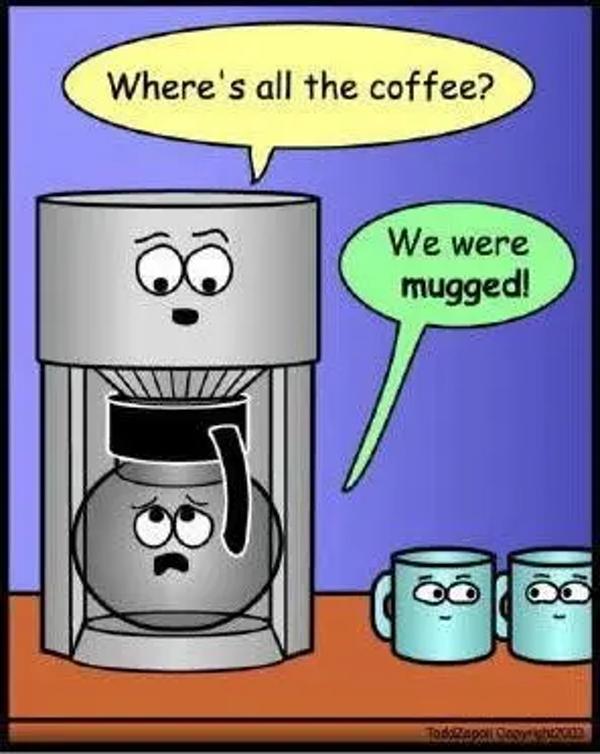 Funny coffee pot image meme