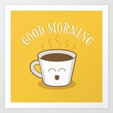 Good morning coffee cup image