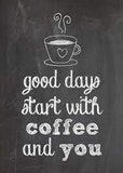 Good mornings start with coffee - truth meme