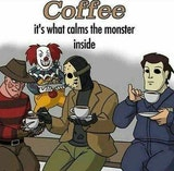 null - Coffee is what calms the monster inside funny coffee meme