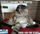 First, drink the coffee then do the stuff morning image