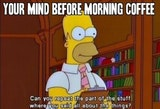 null - your mind before your morning cup of coffee - homer