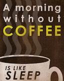 A morning coffee is like sleep meme