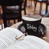 Friday, coffee and books. oh ya
