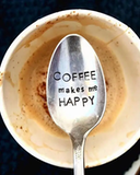 Coffee Makes Me Happy - Coffee Spoon - Latte - Camper Gift ... #happyCoffee
