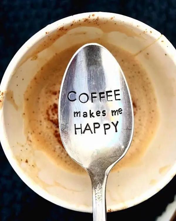 Coffee Makes Me Happy - Coffee Spoon - Latte - Camper Gift ... #happyCoffee