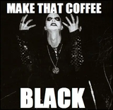 "undefined - Well, not in my case.....gotta have the ""fruffed"" up version ... #blackCoffee"