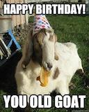 Happy Birthday! You old goat …   Birthday wishes   Birth… #birthdayCoffee
