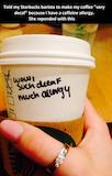 Starbucks trolling #decafCoffee