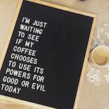 The Wordsmith Oak | Letterfolk Products | Felt letter board ... #funnyCoffeeShop
