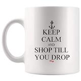 Amazon.com: Keep Calm Shop Till You Drop Mug Coffee Cup Funny Tea ... #funnyCoffeeShop