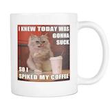 Irish coffee cat meme double sided 11 ounce mug   Cats!   Irish ... #irishCoffee