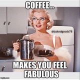 BE FABULOUS this morning, BE HAPPY, get your BUZZ goin. The FIEND ... #coffeeBuzz