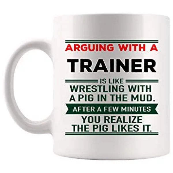 Amazon.com: Arguing Trainer Mug Coach Coffee Cup MugsJoke Gag ... #sarcasticCoffee