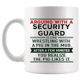 Amazon.com: Arguing Security Guard Mug Coffee Cup Tea Mugs ... #sarcasticCoffee