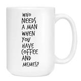 Sarcastic Coffee - Amazon.com: Breakup Coffee & Memes Mug - Cute Sarcastic Funny Cup ... #sarcasticCoffee