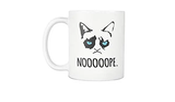Grumpy Cat Funny Bad Attitude Kitty Nope I Do What I Want Meme Cat ... #strongCoffee
