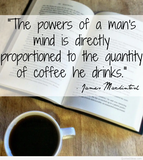 Book Quote - #bookQuote power of coffee