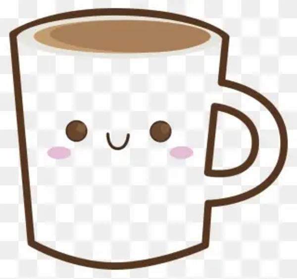 Mug Clipart Happy - Coffee Cartoon Png Transparent Png (#191663 ... #happyCoffee