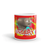 Amazon.com: Meme Man Angery Mug. 11 Oz Ceramic Glossy Gift For ... #coffeeLovers