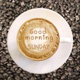 Good Morning Sunday On Hot Coffee Background Stock Photo, Picture ... #sundayCoffee