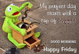 Happy Friday – Start your day with steaming coffee   Friday Wishes ... #coffeeFriday