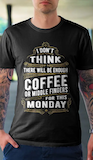 Coffee Lover Monday Haters funny meme quote T-Shirt gift This ... #coffeeLovers