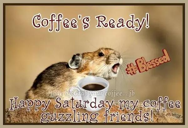 Coffee's ready. Its Saturday #saturdayCoffee