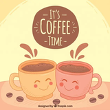 Background of happy coffee mugs   Stock Images Page   Everypixel #happyCoffee